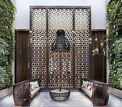 Crown Casino Mahogany Room Feature Metal Screens